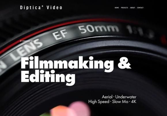 Diptica Video homepage